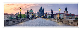Póster Charles Bridge in Prague Panorama