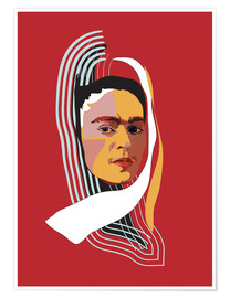 Póster Frida Abstract
