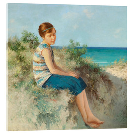 Cuadro de metacrilato  Girl in the dunes by the North Sea beach on Sylt - Hermann Seeger