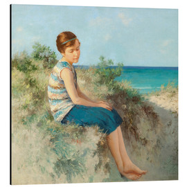 Cuadro de aluminio  Girl in the dunes by the North Sea beach on Sylt - Hermann Seeger