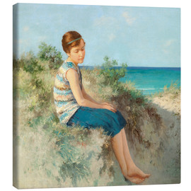 Lienzo  Girl in the dunes by the North Sea beach on Sylt - Hermann Seeger