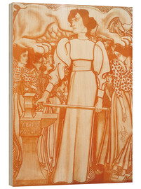 Cuadro de madera  Work for women - Jan Toorop