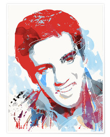 Póster Elvis Presley pop art