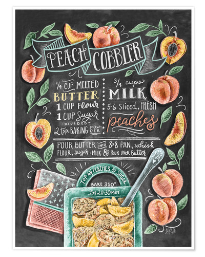 Póster Peach Cobbler recipe