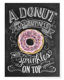 Póster  A Donut is Happiness - Lily & Val