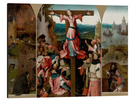 Cuadro de aluminio  Triptych with the crucified martyr - Hieronymus Bosch