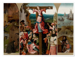 Póster Triptych with the crucified martyr