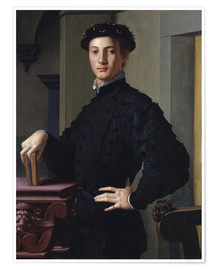 Póster  portrait of a young man - Agnolo Bronzino