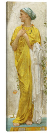 Lienzo  Standing figure in yellow and blue, study for Topaz - Albert Joseph Moore