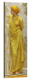 Cuadro de aluminio  Standing figure in yellow and orange: Study for Topaz - Albert Joseph Moore