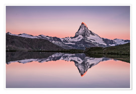 Póster  Sunrise, Matterhorn - Zermatt, Switzerland - Achim Thomae