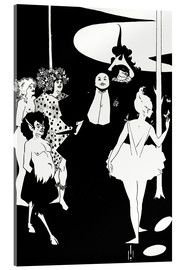 Cuadro de metacrilato  Faun and women - Aubrey Vincent Beardsley