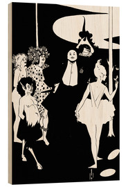 Cuadro de madera  Faun and women - Aubrey Vincent Beardsley