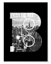 Póster  Enjoy the ride bicycle - Nory Glory Prints