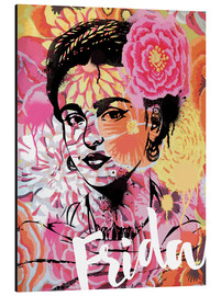 Aluminio-Dibond  Frida Kahlo ethnic pop art floral illustration - Nory Glory Prints
