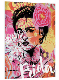 Forex  Frida Kahlo ethnic pop art floral illustration - Nory Glory Prints