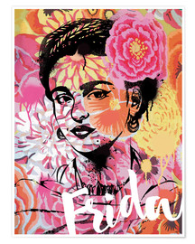 Póster  Frida Kahlo ethnic pop art floral illustration - Nory Glory Prints