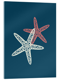 Cuadro de metacrilato  Nautical logo starfish sea nautical ocean art - Nory Glory Prints