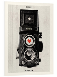 Forex  Vintage retro camera photographic art print - Nory Glory Prints