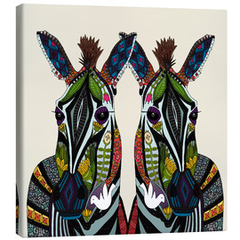 Lienzo  Zebra love - Sharon Turner