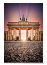 Póster Brandenburger Gate Berlin