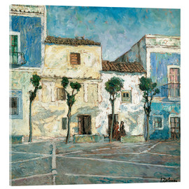 Cuadro de metacrilato  Houses in the sun - Ignacio Zuloaga Zabaleta
