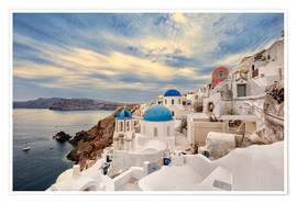 Póster  View of Oia, Santorini - Stefan Becker
