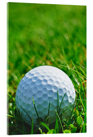 Golf ball in the grass