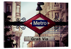 Metacrilato  Metro sign - Madrid