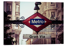 Aluminio-Dibond  Metro sign - Madrid