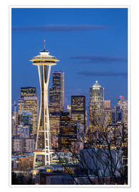 Póster  Space Needle - Seattle - Thomas Klinder