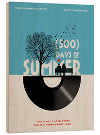 Cuadro de madera  500 days of summer - Golden Planet Prints