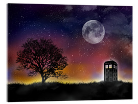 Metacrilato  Doctor who tardis night sky tv serie inspired art print - Golden Planet Prints