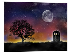 Aluminio-Dibond  Doctor who tardis night sky tv serie inspired art print - Golden Planet Prints