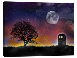 Lienzo  Doctor who tardis night - Golden Planet Prints