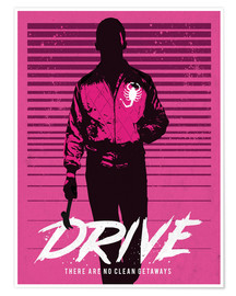 Póster  Drive Ryan Gosling - Golden Planet Prints