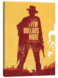 Lienzo  For a few dollars more western movie inspired art print - Golden Planet Prints