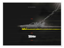 Póster 30th anniversary Back to the future movie inspired art