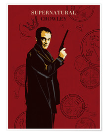 Póster Supernatural - Crowley