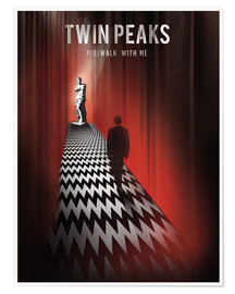 Póster  Twin Peaks ilustración retro - Golden Planet Prints