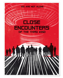 Póster Close encounters of the third king movie inspired art print