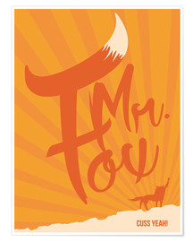 Póster Fantastic mr fox movie inspired art print