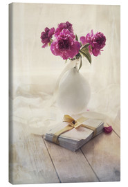 Lienzo  Still life with pink peonies and love letters - Jaroslaw Blaminsky