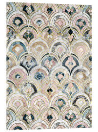 Cuadro de metacrilato  Art Deco Marble Tiles in Soft Pastels - Micklyn Le Feuvre