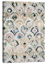 Lienzo  Art Deco Marble Tiles in Soft Pastels - Micklyn Le Feuvre