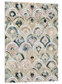 Cuadro de PVC  Art Deco Marble Tiles in Soft Pastels - Micklyn Le Feuvre