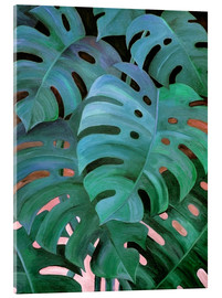 Cuadro de metacrilato  Monstera Love in Teal and Emerald Green - Micklyn Le Feuvre