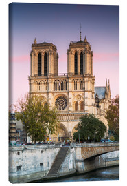 Lienzo  Notre Dame cathedral at sunset, Paris, France - Matteo Colombo