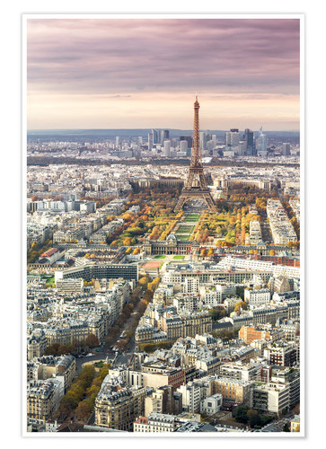Póster Paris from above in autumn