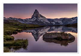 Póster  Sunset at Matterhorn - Achim Thomae